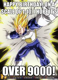 happy birthday on a scale of 1 10 i hope it s over 9000 angry