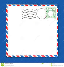vector postage envelope with stamp stock vector image 31124266