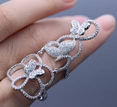 fashion long rings images Jinyao fashion knuckle filigree flower butterfly zircon stones jpg