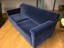 Home Decor Springfield Ma F1 Pre Owned Blue Velour Sofa Lexington Lexington