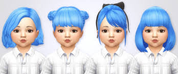 childs hairstyles sims 4 ts4 toddler hair tumblr