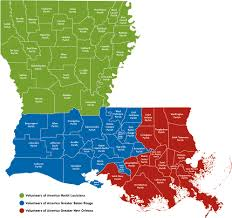 Louisiana Map Of Parishes by Volunteers Of America North Louisiana Services Volunteers Of
