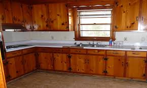 modern kitchen with unfinished pine cabinets durable pine 1950s knotty pine kitchens wood paneled wonderland kitchen