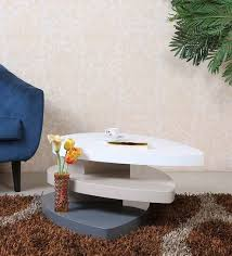 Buy Smart Designer Center Table In White Finish By Parin Online - Designer center table
