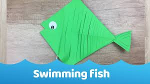 swimming paper fish simple craft for kids youtube