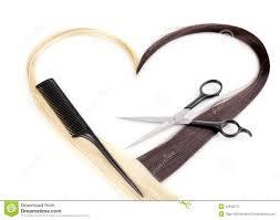 salon style hair cut scissors curls symbol stock photo image