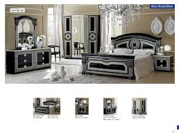 Silver Mirrored Bedroom Furniture Aida Black W Silver Camelgroup Italy Classic Bedrooms Bedroom