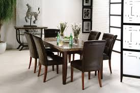 dining room sets with fabric chairs monarch dining room collection