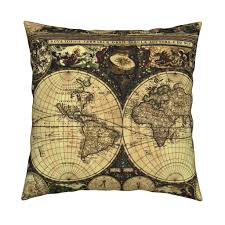 World Map Fabric by Old World Map Fabric Whimzwhirled Spoonflower