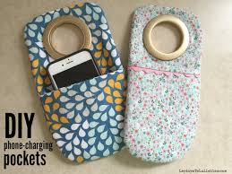 diy phone charger diy phone charging pockets heather s handmade life