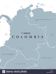 South America Map Countries And Capitals by Colombia Political Map With Capital Bogota National Borders And