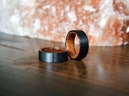 wood rings wedding wood ring black tungsten carbide ring wood rings wooden ring
