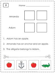 Beginner Reader Worksheets Letter A Worksheets This Set Is Great For Beginning Readers To
