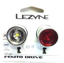 lezyne femto drive bike lights lezyne femto drive front and rear set silver dave kane cycles