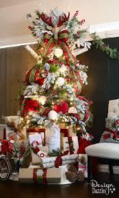 santa u0027s cabin in the woods christmas dream tree tree designs