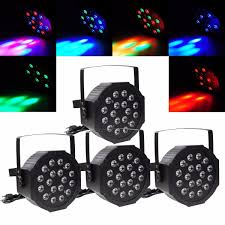 4pcs 18 led rgb par can dj stage dmx lighting for disco