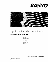 sanyo air conditioners ks1822 pdf user u0027s manual free download