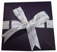 Wedding Invitations With Ribbon Printed Ribbons For Weddings Hayfords Wedding Stationery And