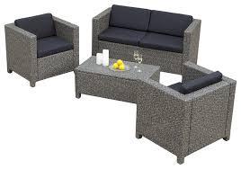Venice Piece Outdoor Wicker Sofa Set Contemporary Outdoor - Patio furniture sofa sets