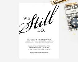 wedding vow cards vow renewal invitation we still do black and white custom