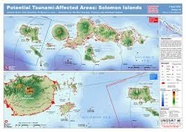 Solomon Islands Map Unosat Solomon Islands Elevation Map Solomon Islands U2022 Mappery