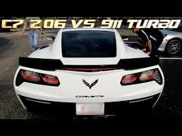 porsche 911 vs corvette dig race 2016 porsche 911 turbo s battles c7 z06 corvette