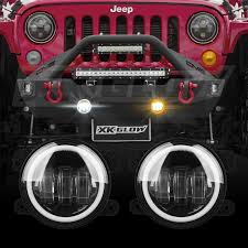 jeep wrangler light switch xkglow 4in ultra bright wide angle led fog light switch back dual