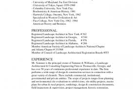 Landscaping Resume Samples by Sample Resume For Landscape Architect Reentrycorps