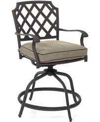 grove hill cast aluminum outdoor balcony swivel chair furniture