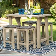 High Top Patio Furniture Set - belham living camden wood balcony height dining set walmart com