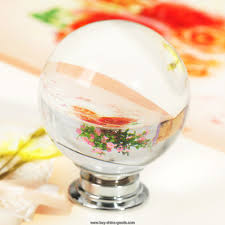 5x40mm crystal glass clear round ball door cabinet kitchen handle