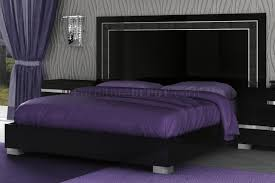 Purple High Gloss Bedroom Furniture Bedroom In High Gloss Black By At Home Usa W Options