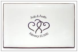 wedding signing plate hearts wedding guest signature platter serendipity crafts