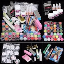 diy acrylic nail kit 21 in 1 professional powder uv gel primer