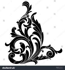 vintage baroque ornament corner retro pattern stock illustration