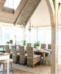 beach house dining room tables cottage kitchen table wicker side chairs at cottage dining table