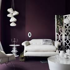 furniture chic purple living room with blue sofas and purple