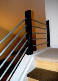 contemporary stair railing kits wood contemporary stair railing