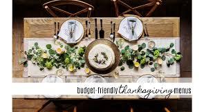 2 budget friendly thanksgiving menus southern savers