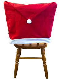 Santa Chair Covers Santa Hat Chair Covers 4 Pack Christmas Accessories The