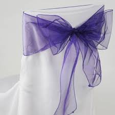 Purple Chair Sashes Wholesale Chair Sashes For Wedding Chair Bows For Decoration