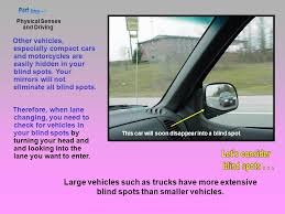 Driving Blind Spot Check Unit 3 U2013 Driver Physical Fitness Ppt Download