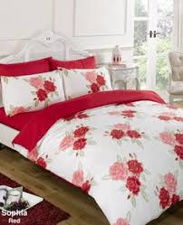 The Duvet And Pillow Company Super King Size Duvet Cover Bed Set Black U0026 Pink Poppy Design