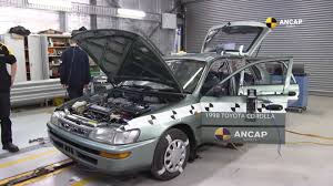 toyota old video old vs new toyota corolla crash test shows the safety