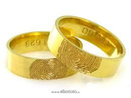 obraczki slubne obrączki ślubne z odciskiem palca linie papilarne z żółtego złota