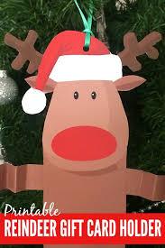 free printable reindeer activities free printable reindeer gift card holder free printable and gift