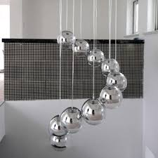 glass globe pendant light sale modern globe chrome finished mirror glass ball vacuum led