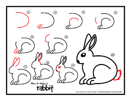 easy drawings of rabbits kids coloring europe travel guides com