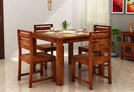Dining Table 4 Chairs Set 4 Seater Dining Table Set Online Dining Table Four Seater Set