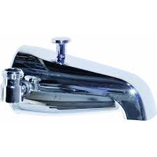 Bathtub Faucet With Diverter For Shower Bathtub Spout With Diverter And Shower Connection Walmart Com